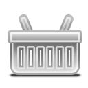 Basket, Grayscale Icon
