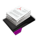 Documents, My, Pile, Purple Icon