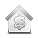 Bank, Grayscale Icon