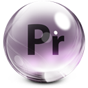 Adobe, Glass, Premiere Icon