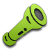Flashlight, Green Icon