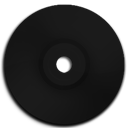 Black, Cd, Dvd Icon