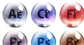 Adobe CS 5 Glass Icons