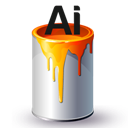 Ai, Bucket, Paint Icon