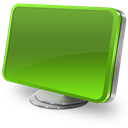 Computer, Green Icon