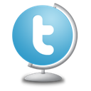 Globe, Twitter Icon