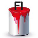 Bucket, Fl, Paint Icon
