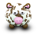 Brown, Cow, Spots Icon