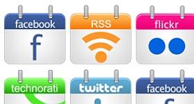 Social Calendar Icons