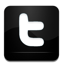 And, Black, Twitter, White Icon
