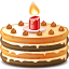 Cake, Emoticon Icon