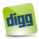 Digg, Green, Hover Icon