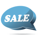 Blue, Sale Icon