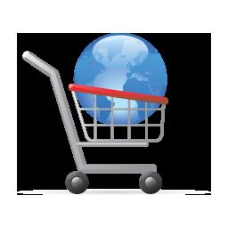 Cart, Shopping, World Icon