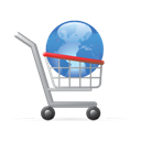 Cart, Shopping, World Icon