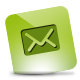 Green, Hover, Mail Icon