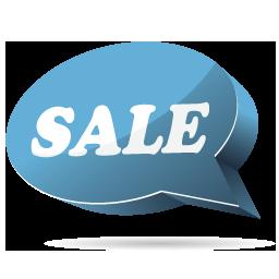 Blue, Sale Icon