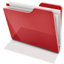 Full, Red, Tfolder Icon