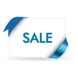 And, Blue, Sale, White Icon