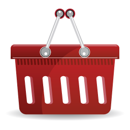 Basket, Red, Shopping Icon