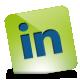 Green, Hover, Linkedin Icon