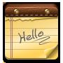 Hello, Note Icon