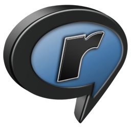 And, Black, Blue, Realplayer Icon