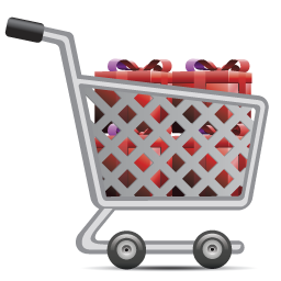 Cart, Full, Gifts, Of, Shopping Icon