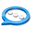 Blue, Chat Icon