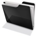 Black, Full, Tfolder Icon