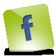 Facebook, Green, Hover Icon