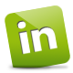 Green, Linkedin Icon