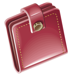 Red, Wallet Icon