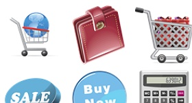 Daily Overview Shopping Icons
