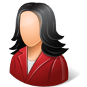 Customer, Female, Light Icon