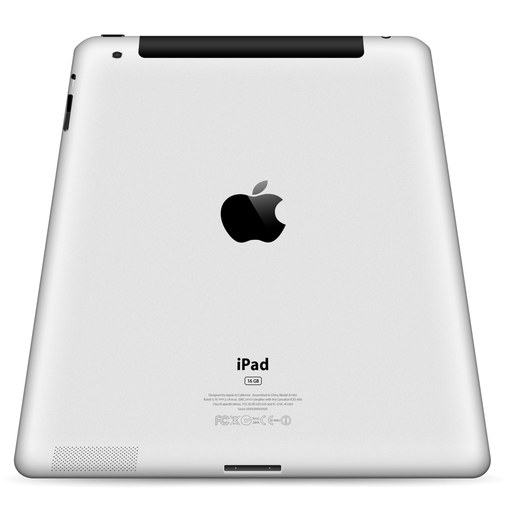 3g, Back, Ipad, Perspective Icon