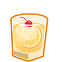 Cocktail, Sour, Whiskey Icon