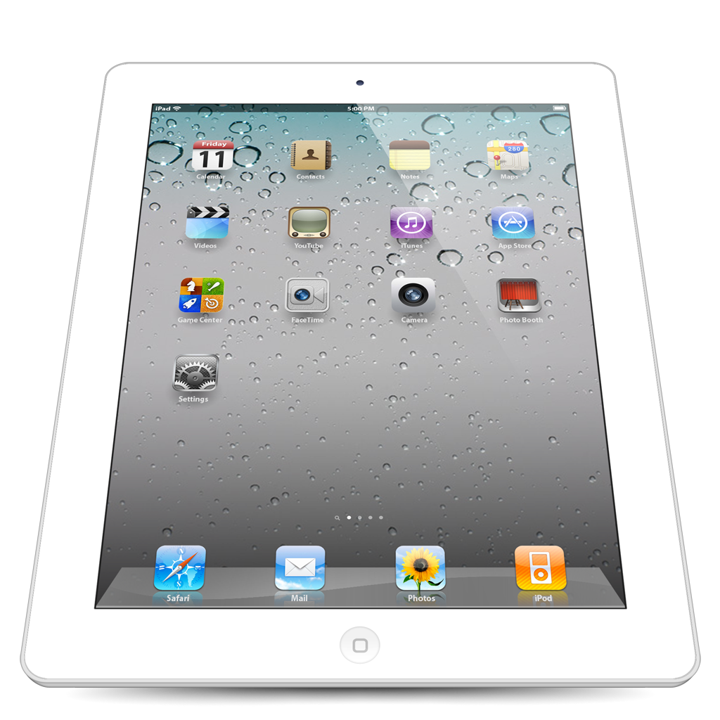 Ipad, Perspective, White Icon