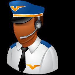 Dark, Male, Pilot Icon