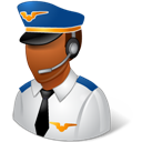 Dark, Male, Pilot Icon