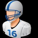 Footballplayer, Light, Male Icon