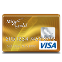Gold, Visa Icon