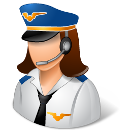 Female, Light, Pilot Icon
