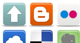 Pretty Social Media Part 1 Icons