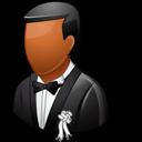 Bridegroom, Dark, Wedding Icon