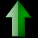 Fleche, Haut, Vert Icon