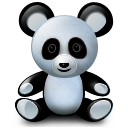 Boy, Panda, Toy Icon