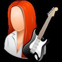 Female, Guitarist, Light Icon