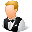 Light, Male, Waiter Icon