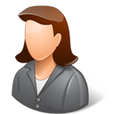 Client, Female, Light Icon